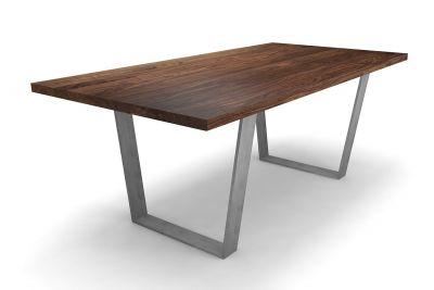Minimalistischer Esstisch aus Nussbaum massiv nach Maß