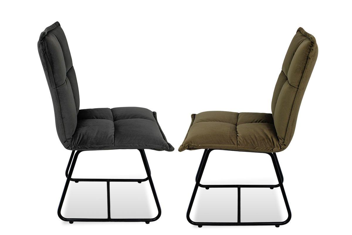 Stuhl gepolstert modern zwei farben zur auswahl holzpiloten for Stuhl gepolstert