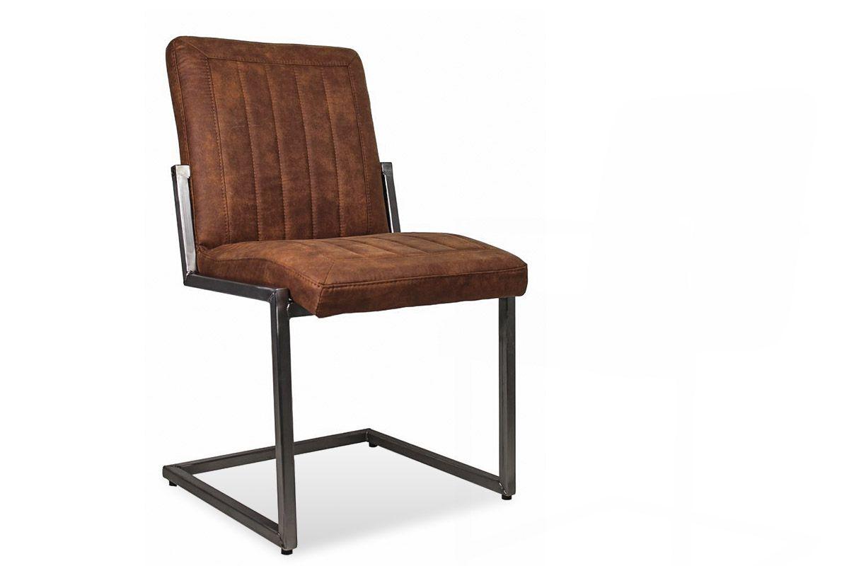 Industrie Design Stuhl mit Stahlrahmen