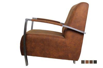 Bequeme Designer Sessel mit Leder und Stoffbezügen [HOLZPILOTEN]