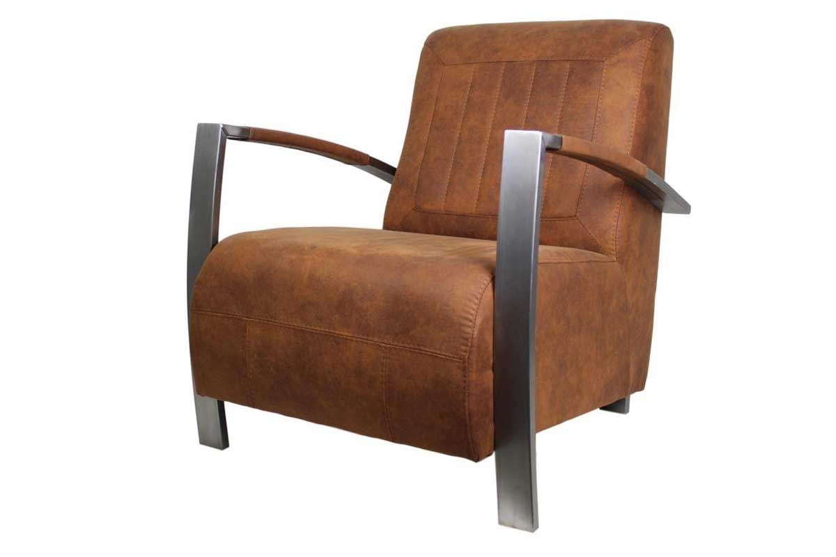 Lounge Sessel Edelstahl mit Armlehnen