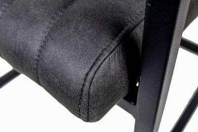 Industrial Freischwinger schwarz Detail Polsterung