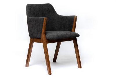 Sessel modern aus Stoff und Holz gefertigt, Modell A7