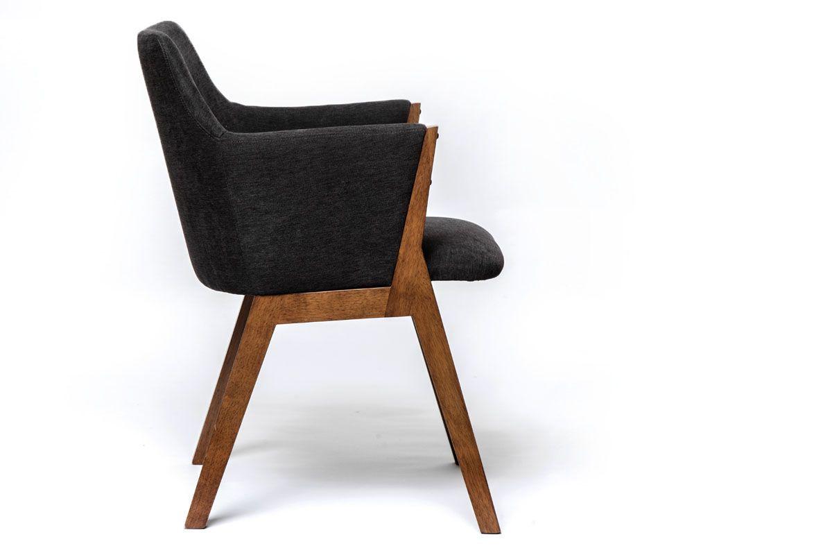Bequemer Stoff Stuhl im modernen Gewand