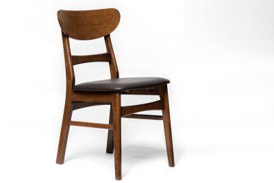Stuhl Holz mit Kunstleder Sitzfläche Modell D5
