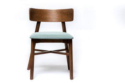Essstuhl Holz und Stoff Modell D8