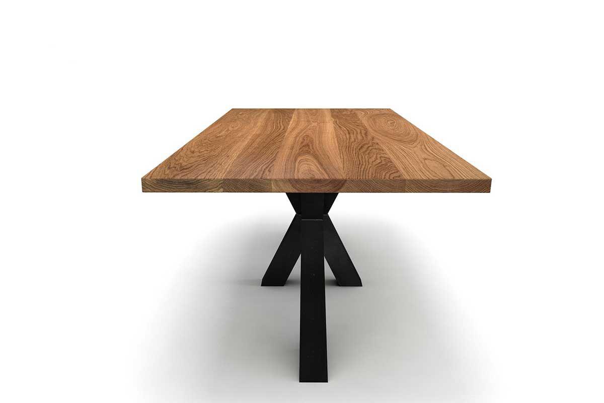mittelfu esstisch holz massiv eiche 4cm holzpiloten. Black Bedroom Furniture Sets. Home Design Ideas