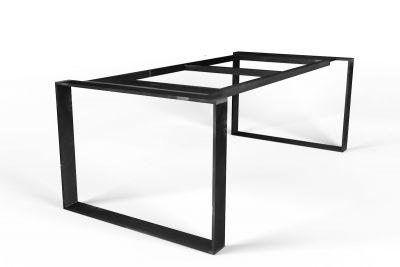 Stahlband Tischgestell selbsttragend nach Maß mit einem Profil von 10x1,5cm gefertigt