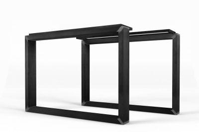 Kufengestell Stahl nach Maß mit optischer Schattenfuge versehen
