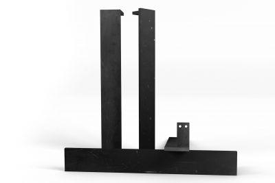 Übersicht über die vollmassiven Metall Tischbeine. In filigraner Optik gefertigt.