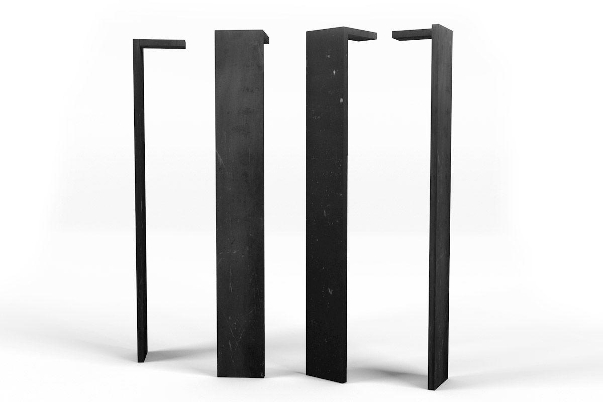 vollmassive metall tischbeine nach ma holzpiloten. Black Bedroom Furniture Sets. Home Design Ideas