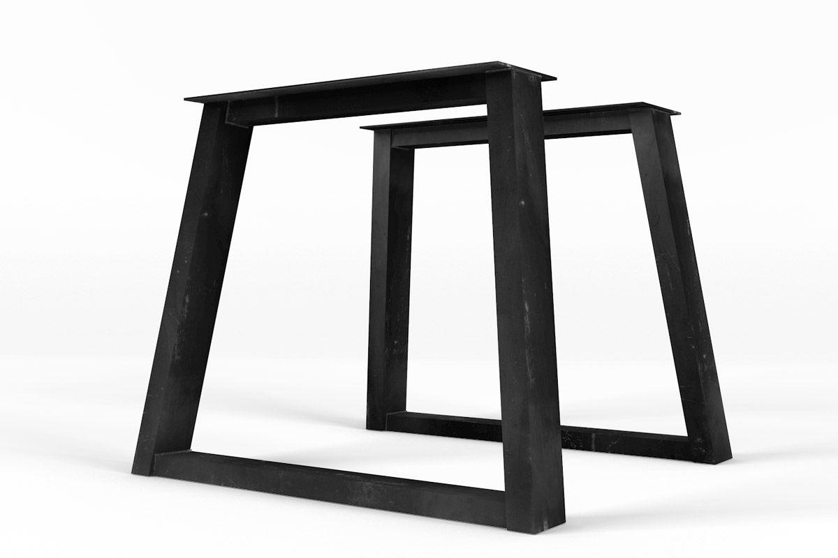 Beide Tischkufen Stahl im perfektem Einklang auf Maß gefertigt.