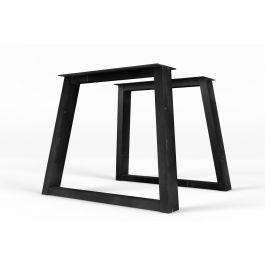 stahl tischkufen schr g 2er set nach ma holzpiloten. Black Bedroom Furniture Sets. Home Design Ideas