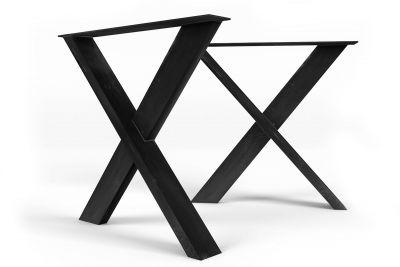 Tischgestell Kreuz aus Stahl 2er Set MAC101