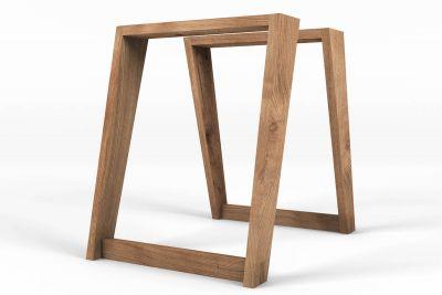 Tischkufen Holz Eiche 2er Set LH231