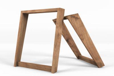 Im perfektem Licht positioniert. Deine Tischkufen aus Holz nach deinem Maß.