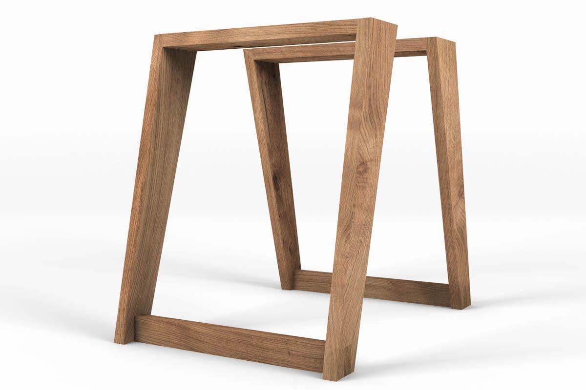 Holztischkufen in frontaler Ansicht in massiver Ausfürhung.