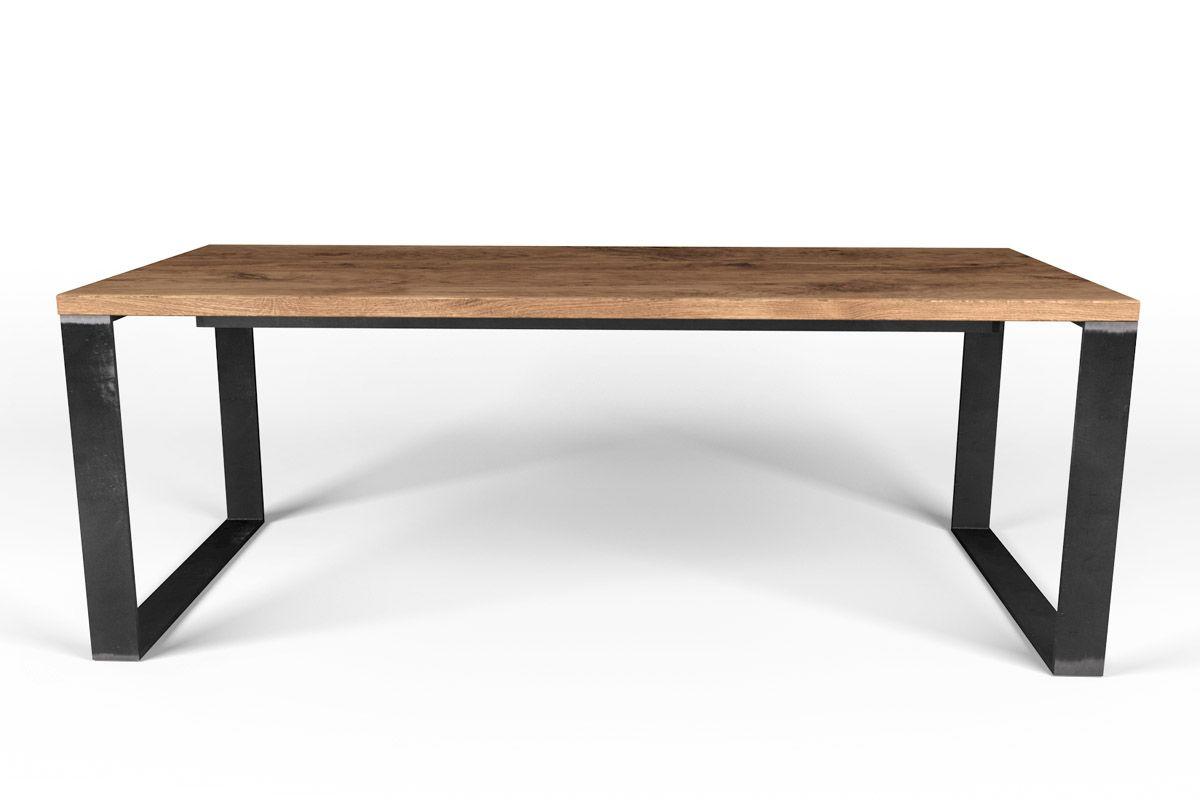 kufenesstisch eiche massiv stahlkufen nach ma holzpiloten. Black Bedroom Furniture Sets. Home Design Ideas