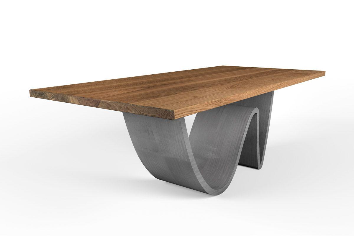 esstisch aus marklose eiche astfrei 4 cm wellenform holzpiloten. Black Bedroom Furniture Sets. Home Design Ideas