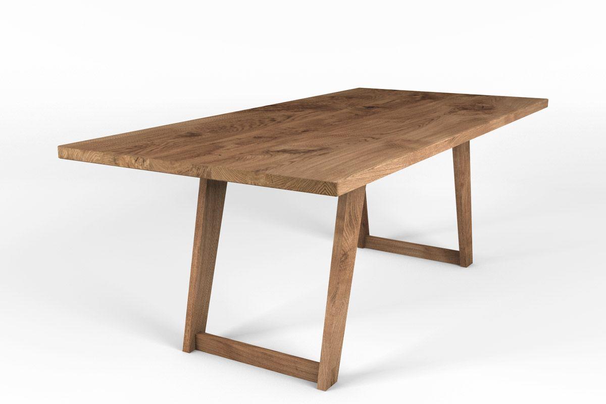 Kufentisch in Eiche massiv nach Maß gefertigt