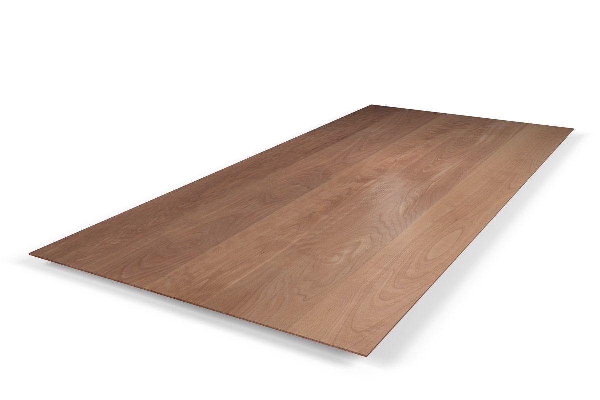 Tischplatte Buche massiv mit Facettenkante