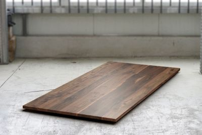 Holzplatte nach Maß massiver Nussbaum 2cm mit Astanteil