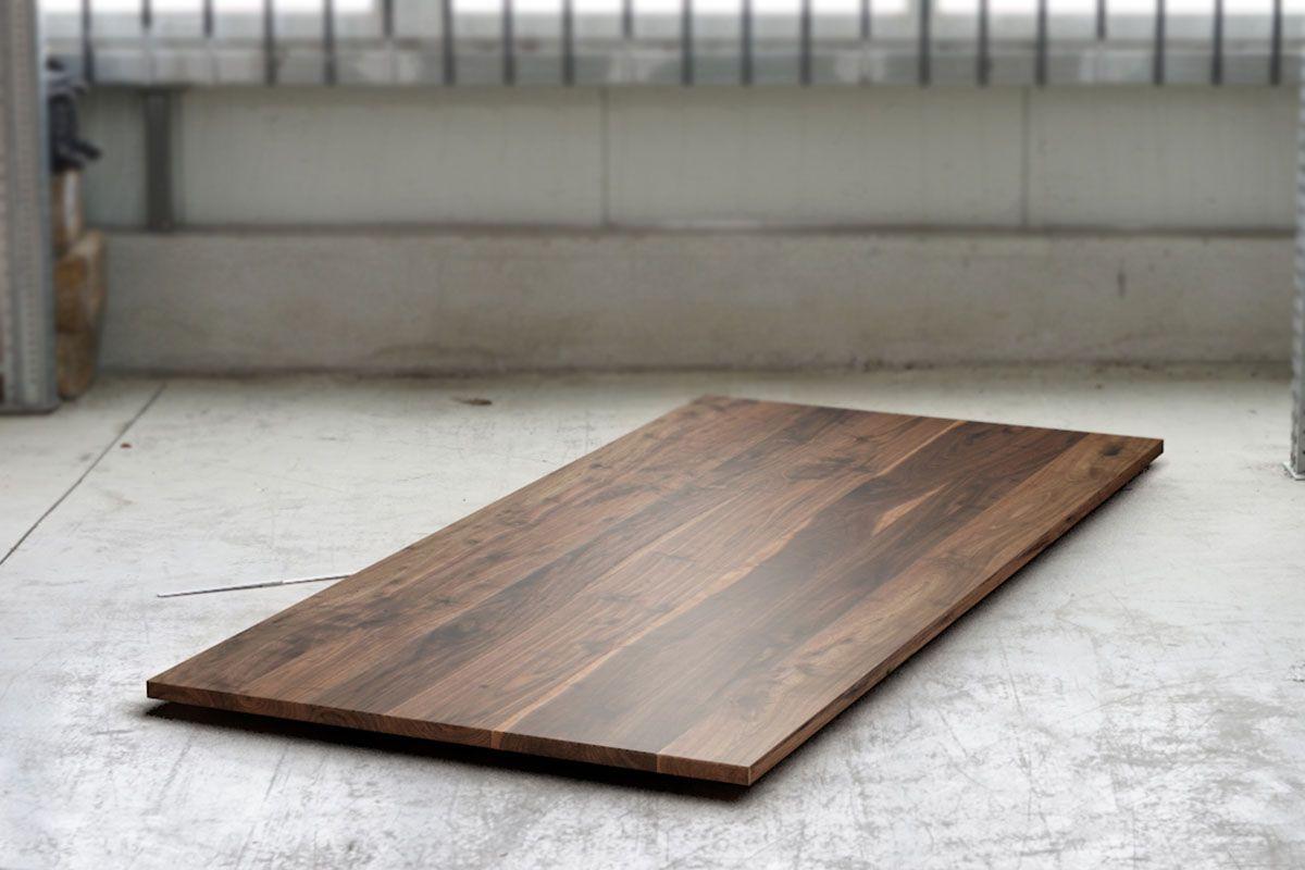 Holzplatte nach Maß massiver Nussbaum in 2cm mit Astanteil