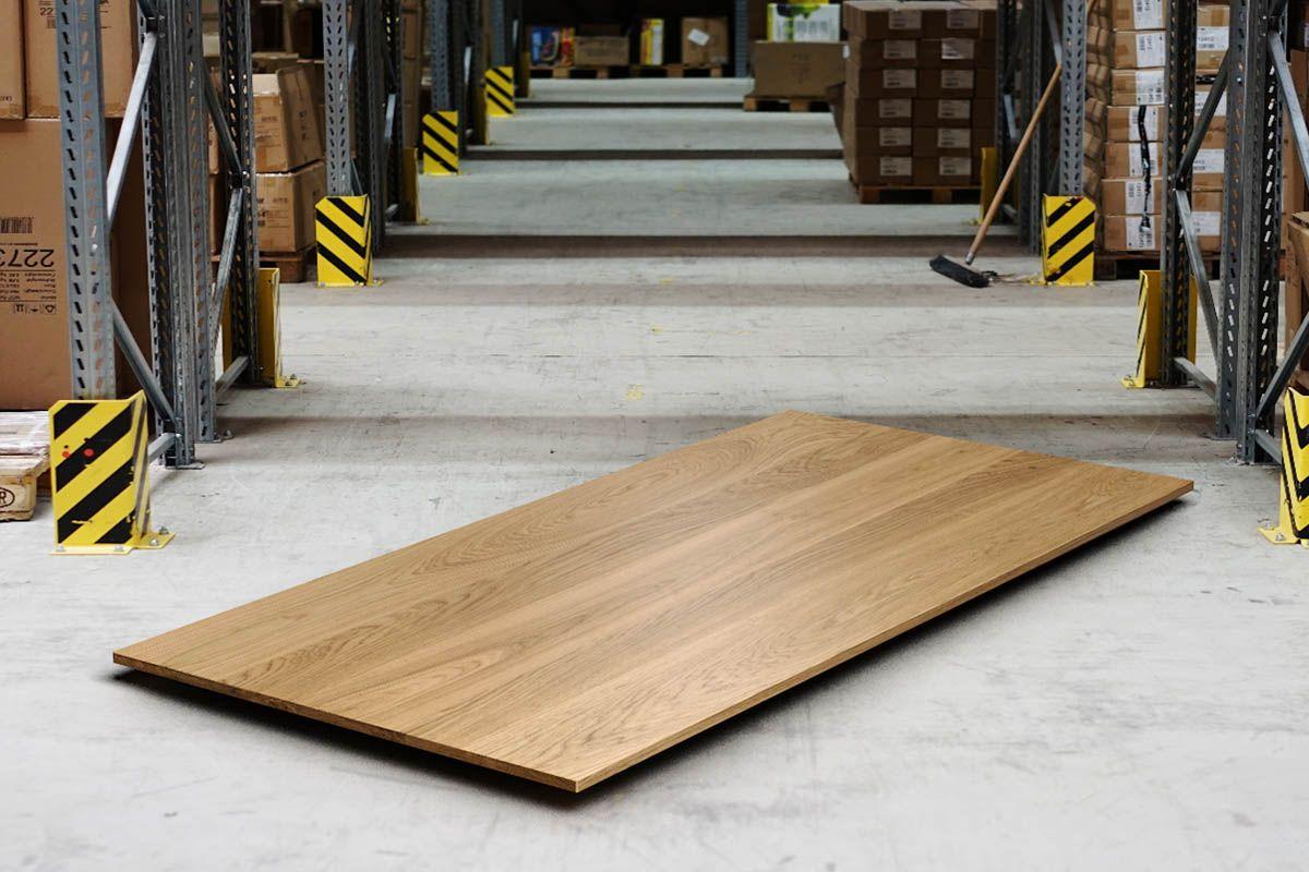 Tischplatte Eiche Massivholz 2cm in astfreier Qualität gefertigt in 2cm