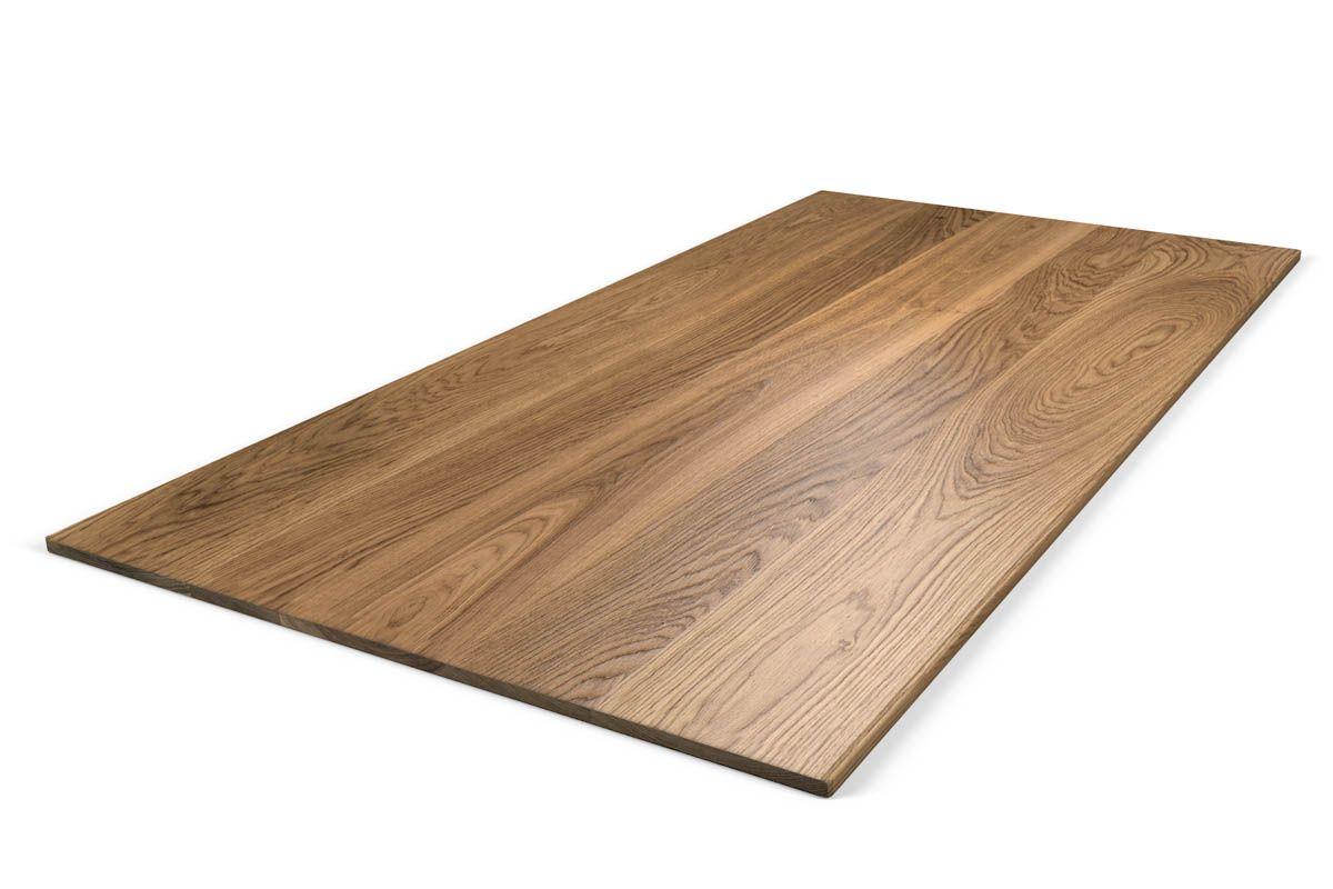 Tischplatte Eiche Massivholz 2cm astfrei