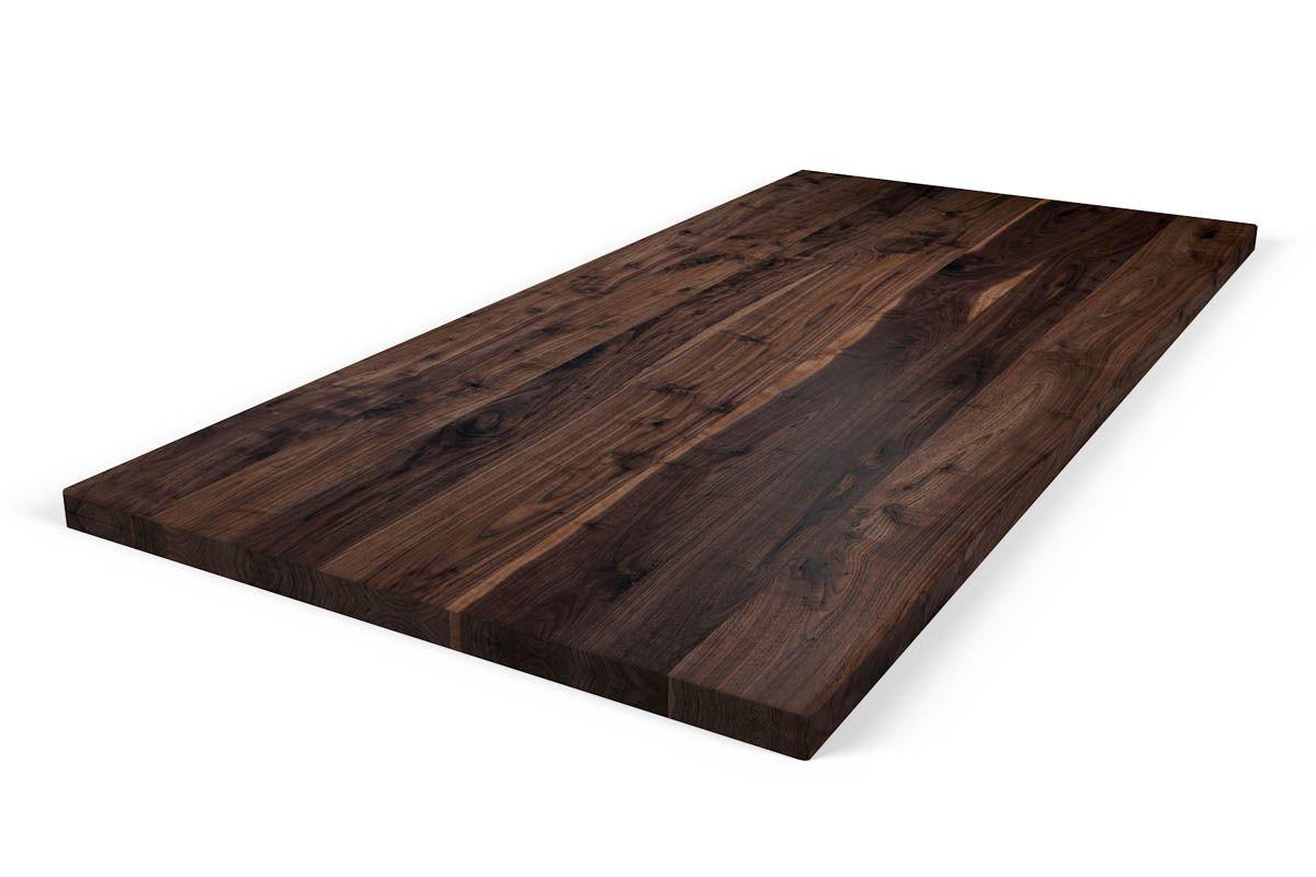Naturholz Tischplatte Nussbaum 8cm