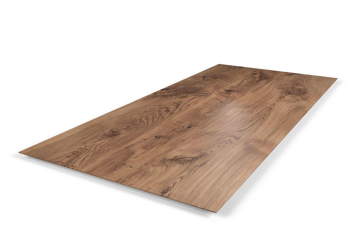 Tischplatte Eiche massiv mit Facettenkante