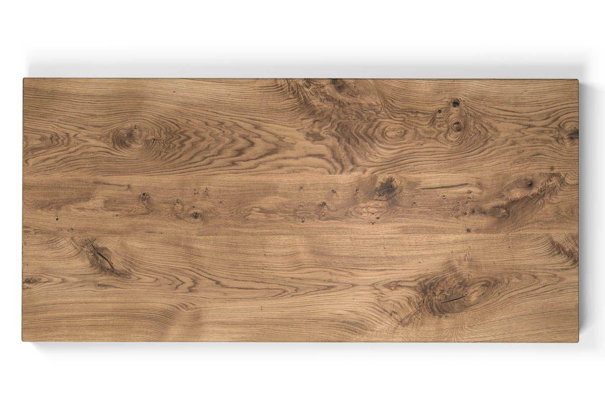 Tischplatte Eiche Massiv Mit Facettenkante Holzpiloten