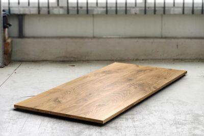 Eichetischplatte Massivholz 3cm Ast nach Maß mit Astanteil