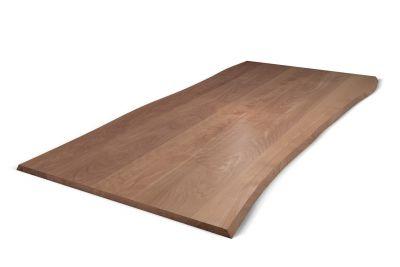 Massive Tischplatte Buche mit Baumkante 3cm astfrei