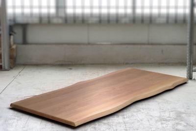 Baumkanten Tischplatte Buche 4cm astfrei nach Maß