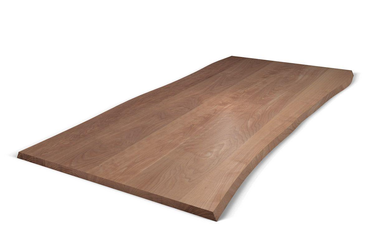Baumkanten Tischplatte Buche nach Maß astfrei