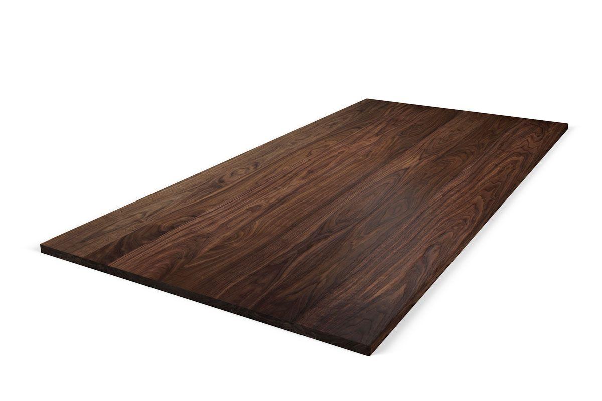 Massivholz tischplatte nussbaum astfrei holzpiloten for Tischplatte massivholz