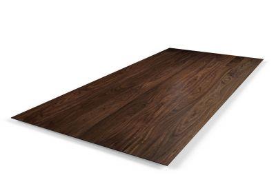 Schweizer Kante Tischplatte Nussbaum 3cm astfrei