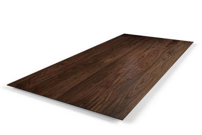 Echtholz Tischplatte Nussbaum mit Schweizer Kante 4cm astfrei