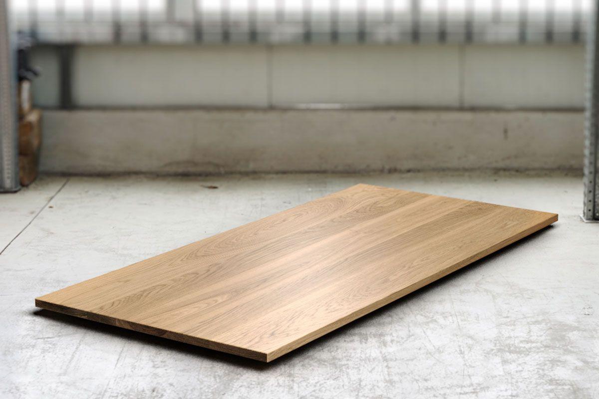 Eichen Tischplatte astfrei 3cm vollmassiv nach Maß gefertigt.