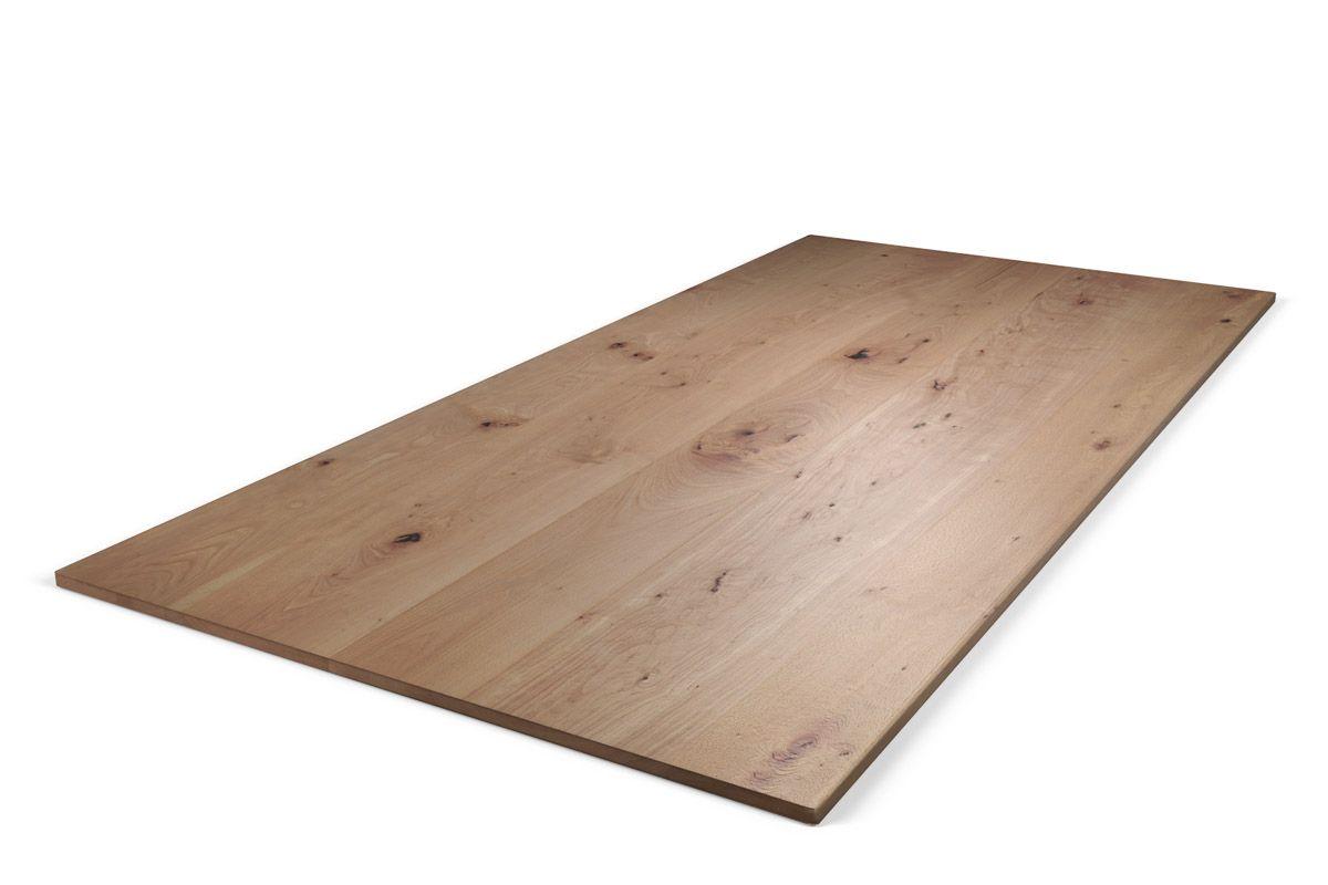 Buche-Tischplatte nach Maß mit charakterstarkem Astanteil