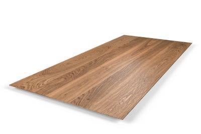Eichen-Tischplatte mit schweizer Kante