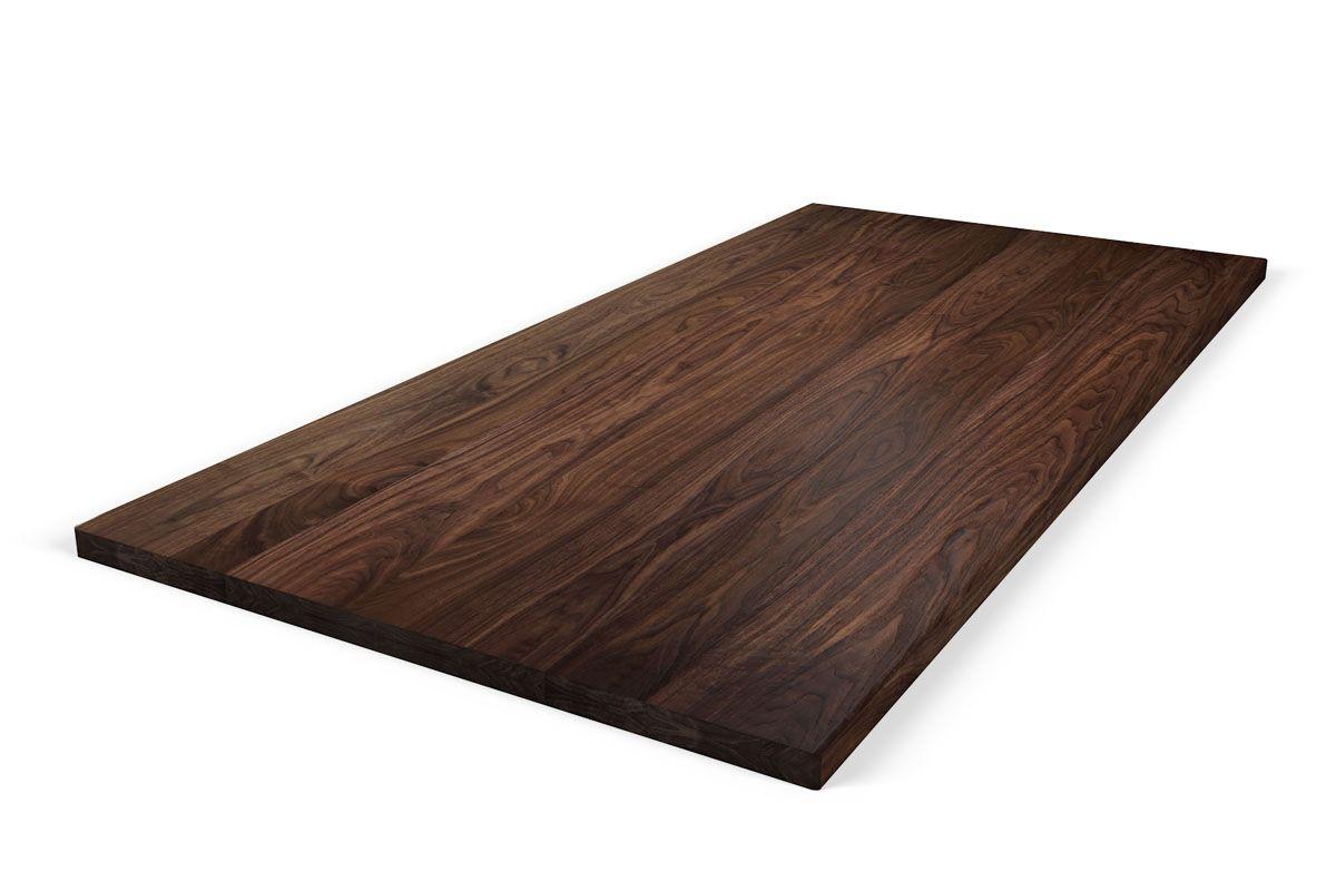 Double-Up Nussbaumtischplatte in massiver und astreiner Qualität