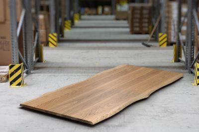 Eichenholz Baumkante Tischplatte 3cm massiv auf Maß in astfreier Qualität