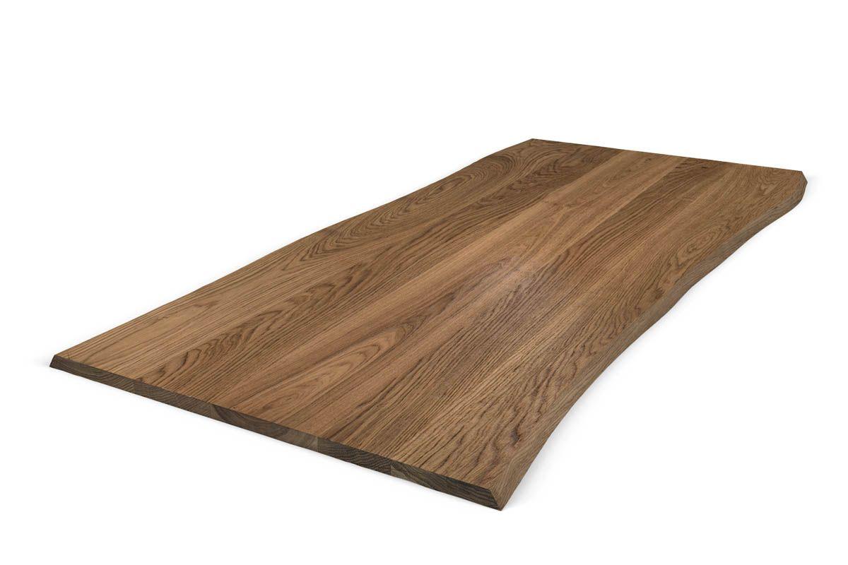 Eichenholz Baumkante Tischplatte 3cm nach Maß