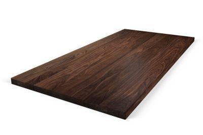 Double-Up Tischplatte Nussbaum 8cm astfrei