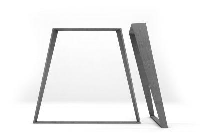 Tischgestell nach Maß Stahlkufen konisch zu laufend gefertigt