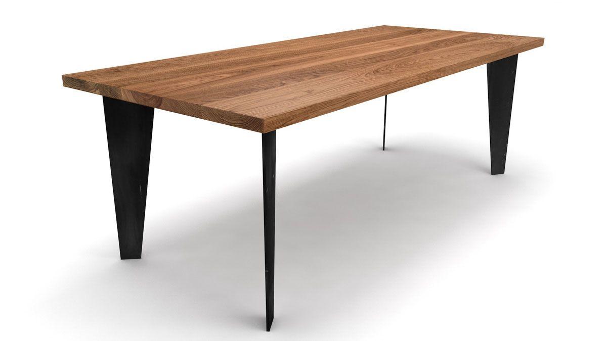 Holz Esstisch nach Maß Eiche astfrei