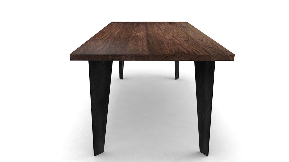 esstisch modern nussbaum nach ma holzpiloten. Black Bedroom Furniture Sets. Home Design Ideas