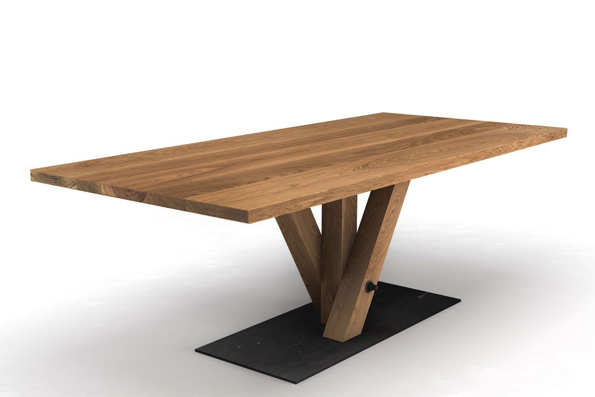 Holztisch eiche design  Design Esstisch Eiche nach Maß [HOLZPILOTEN]